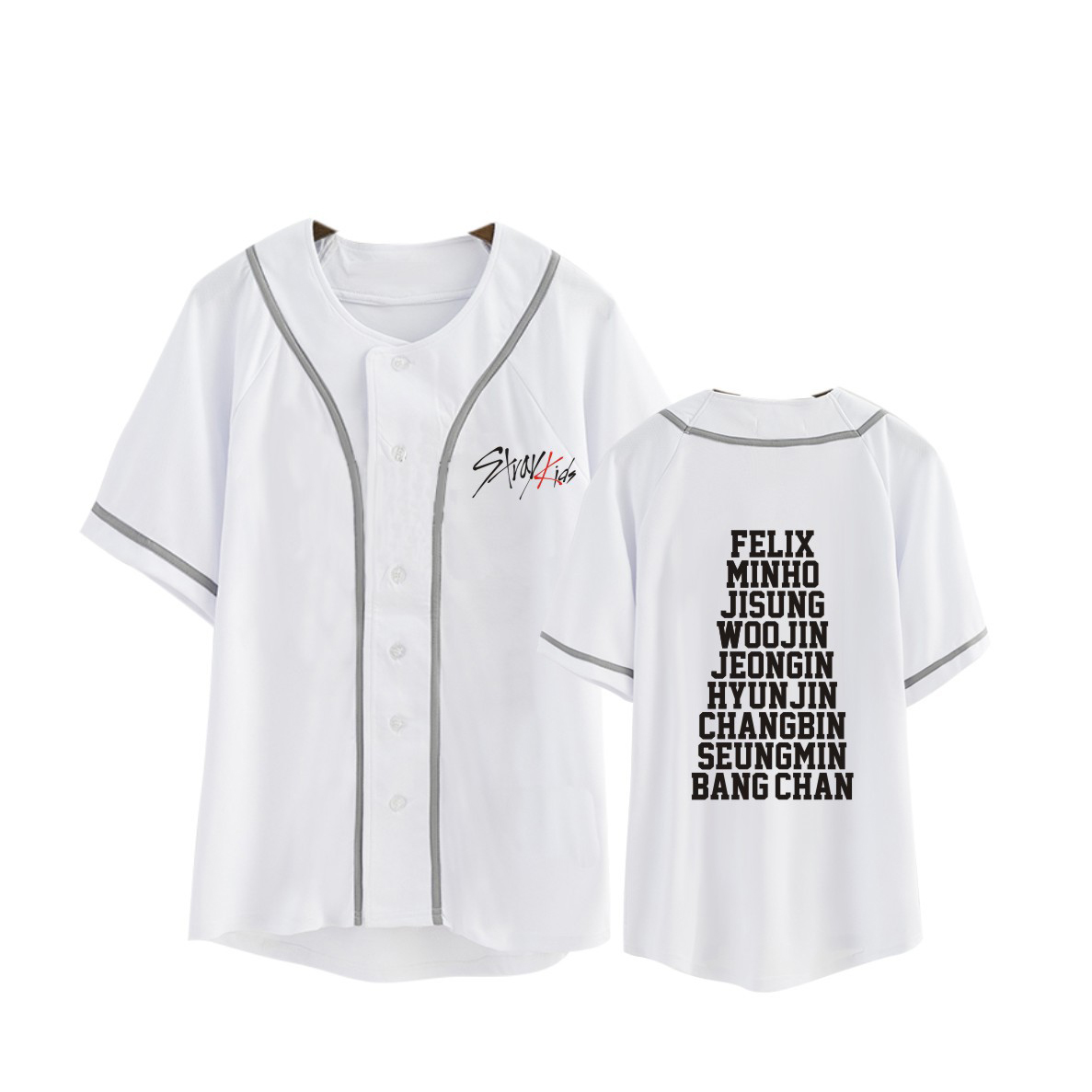 d0a9df7d30ad6 STRAY KIDS Print Baseball T-Shirt