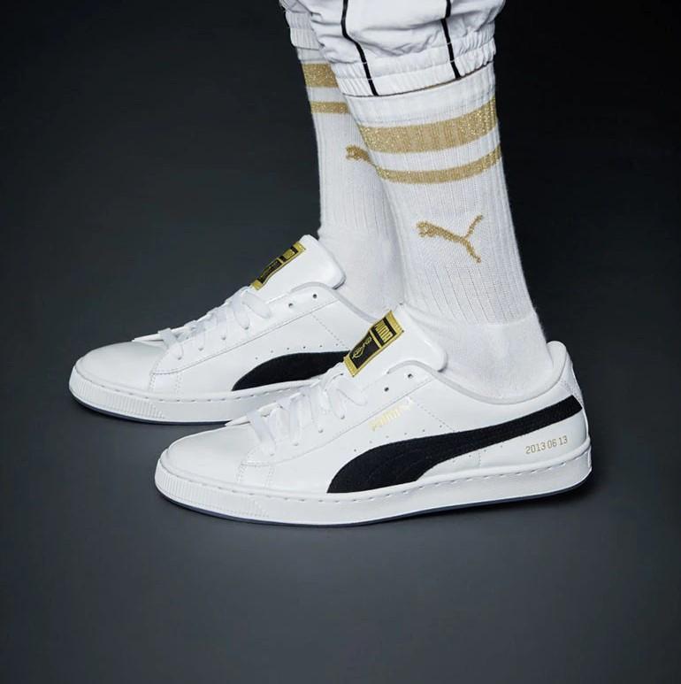 quality design b2fc0 a9d3c BTS Puma Basket Shoes