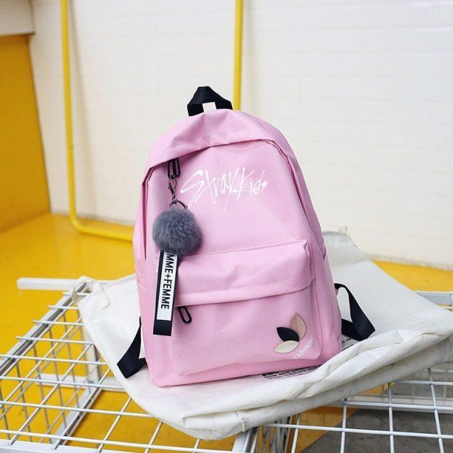 Stray Kids Logo Print Backpack