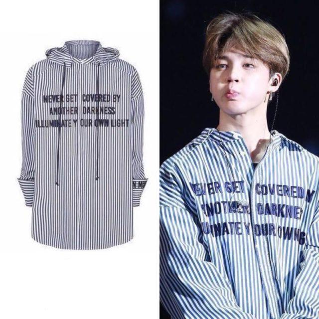jimin striped t shirt